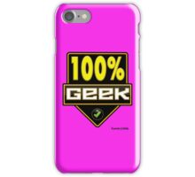 100% Geek iPhone Case/Skin