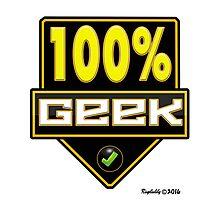 100% Geek Photographic Print