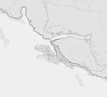 Dubrovnik, Croatia Map. (Black on white) by Graphical-Maps
