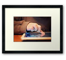 Touch Screen Framed Print
