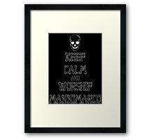 Keep Calm and Worship Mannimarco (for dark coloured materials) Framed Print