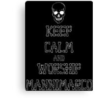 Keep Calm and Worship Mannimarco (for dark coloured materials) Canvas Print