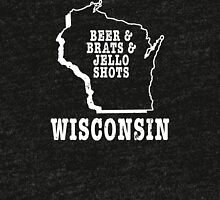 Bear & Breats & Jello Shots Wisconsin Tri-blend T-Shirt