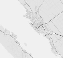 Zadar, Croatia Map. (Black on white) by Graphical-Maps