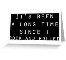 classic rock and roll zeppelin lyrics  Greeting Card