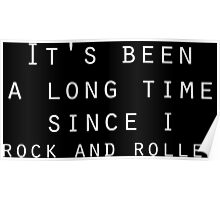 classic rock and roll zeppelin lyrics  Poster