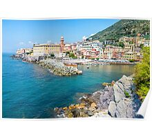 View of Nervi fishing village, Italy. Poster