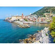 View of Nervi fishing village, Italy. Photographic Print