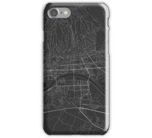 Zagreb, Croatia Map. (White on black) iPhone Case/Skin