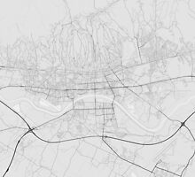 Zagreb, Croatia Map. (Black on white) by Graphical-Maps