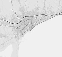 Limassol, Cyprus Map. (Black on white) by Graphical-Maps