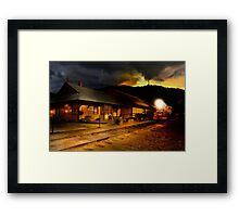 Yreka train station. Framed Print