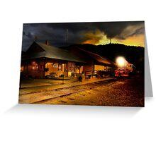 Yreka train station. Greeting Card