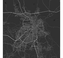 Nicosia, Cyprus Map. (White on black) Photographic Print