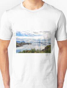 Lofoten coastline near Svolvaer, Norway Unisex T-Shirt