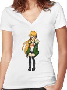 Futaba Sakura - Persona 5 Women's Fitted V-Neck T-Shirt