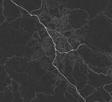 Liberec, Czech Republic Map. (White on black) by Graphical-Maps
