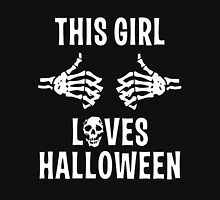 This girl loves Halloween Womens Fitted T-Shirt
