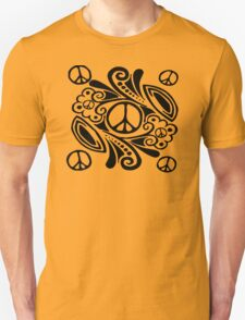 Peace Symbol Love Flower Unisex T-Shirt