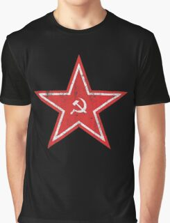 Hammer and Sickle Star Graphic T-Shirt
