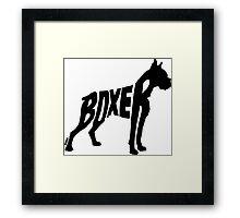 Boxer Black Framed Print