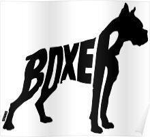 Boxer Black Poster