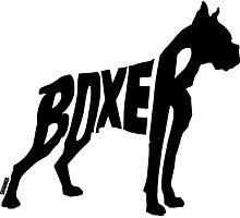 Boxer Black Photographic Print