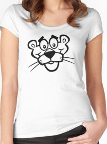 Panther Face Women's Fitted Scoop T-Shirt