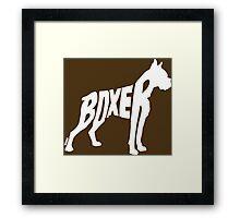 Boxer White Framed Print