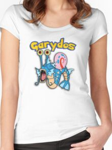 Gary the snail and Gyarados  mashup = Garydos Women's Fitted Scoop T-Shirt