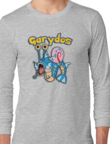 Gary the snail and Gyarados  mashup = Garydos Long Sleeve T-Shirt