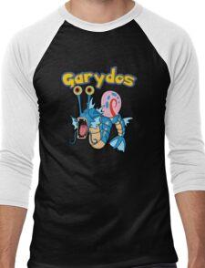 Gary the snail and Gyarados  mashup = Garydos Men's Baseball ¾ T-Shirt