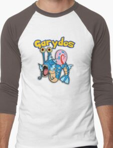 Gary the snail and Gyarados  mashup = Garydos Men's Baseball ¾ T-Shirt