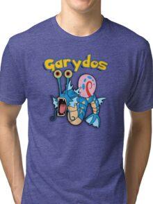 Gary the snail and Gyarados  mashup = Garydos Tri-blend T-Shirt