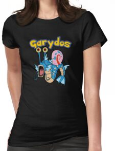 Gary the snail and Gyarados  mashup = Garydos Womens Fitted T-Shirt
