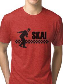 Ska Music Stencil Tri-blend T-Shirt
