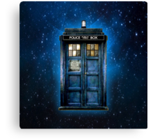 Space And Time traveller Box With yellow stained glass Canvas Print