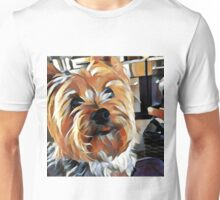 Tongue out yorkie Unisex T-Shirt