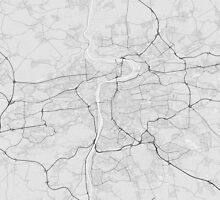 Prague, Czech Republic Map. (Black on white) by Graphical-Maps