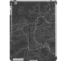 Prague, Czech Republic Map. (White on black) iPad Case/Skin