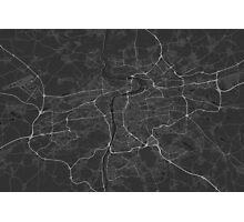 Prague, Czech Republic Map. (White on black) Photographic Print