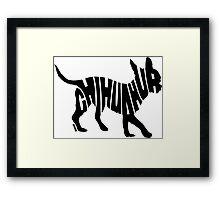 Chihuahua Black Framed Print