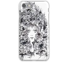 Majestic Lady, Ink Drawing iPhone Case/Skin