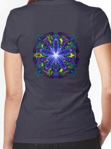 Energetic Geometry - moonlight flower bloom Women's Fitted V-Neck T-Shirt