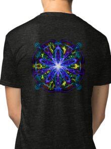 Energetic Geometry - moonlight flower bloom Tri-blend T-Shirt