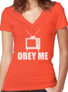 Obey Me Women's Fitted V-Neck T-Shirt