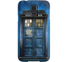 Space And Time traveller Box With yellow stained glass Samsung Galaxy Case/Skin