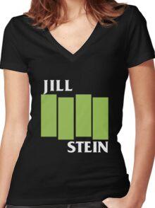 Jill Stein (Black Flag) Women's Fitted V-Neck T-Shirt