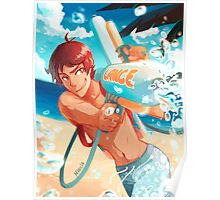 Lance with waterguns Poster