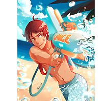 Lance with waterguns Photographic Print